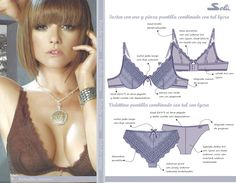Estudio Intimo: Trabajos Sewing Bras, Sewing Lingerie, Sewing Clothes, Diy Clothes, Underwear Pattern, Lingerie Patterns, Bra Pattern, Lingerie Illustration, Easy Sewing Patterns