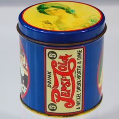 Drink Pepsi Cola Collectible Tin A Nickel Drink Worth a Dime