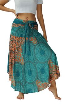Women's Boho Skirts Maxi Dress Gypsy Dress Skirt Rayon