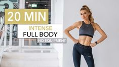 By Pamela Reif. An intense Full Body Workout, that you can do without equipment, wherever and whenever you like ♥︎ this is definitely more intense than my old Full . Cardio, Hiit, Fitness Workouts, At Home Workouts, Quick Workouts, Daily Workouts, Workout Songs, Workout Videos, Free Workout