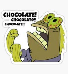Chocolate Spongebob Pegatina
