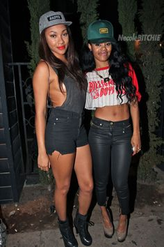 Bria Murhpy and Teyana Taylor at GreyStones