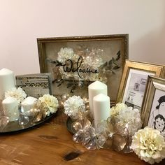 2000円で出来る!『アメリカンフラワー』の作り方と活用方法 | marry[マリー] Wedding Photo Table, Wedding Photos, Tree Wedding, Wedding Reception, Diy Wedding Decorations, Table Decorations, Spring Wedding Inspiration, Wedding Welcome Signs, Flower Arrangements