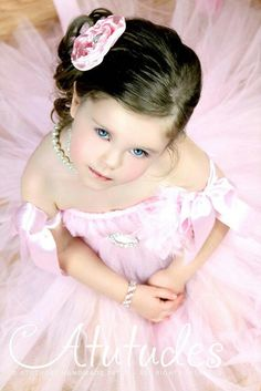 Items similar to Flower Girl Tutu Dress by Atutudes on Etsy Pink Tutu Dress, Flower Girl Tutu, Flower Girl Dresses, Princess Shot, Little Princess, Ballet Poses, Dance Poses, Dance Photography, Children Photography