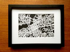 Paper cut map of Ottawa ON by CUTdesignsrt on Etsy Color Swatches, Ottawa, Paper Cutting, A Table, Maps, Custom Design, My Etsy Shop, Create, Handmade