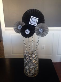 center pieces for a mans birthday party - Google Search