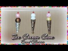 "ICE CREAM CONE BEAD CHARMS - Make ice cream cone bead charms in all your favorite ""flavors""! :-D  These are a cute Summer accessory and so easy!  Music: www.bensound.com"