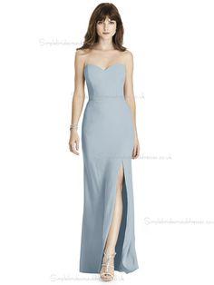 Cheap Amazing Column   Sheath Chiffon Floor-length Sweetheart mist Split Bridesmaid  Dress a62b3a20d95f