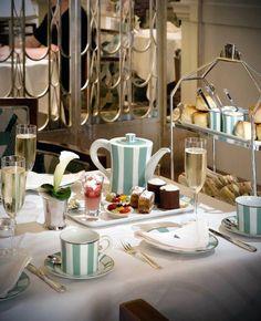 Afternoon tea at Claridge's Mayfair London.