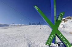 Advertising sign BIG3, ski lift station, Tiefenbachgletscher, glacier, 2795m, Soelden, Austria, Europe