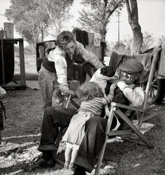 "Nov. 1936:  ""American River camp, Sacramento, California"" Photo by Dorothea Lange for Resettlement Admin."