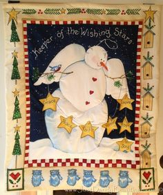 Snowman Angel Wall Hanging