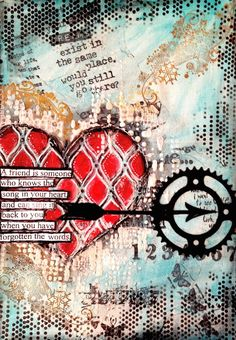 ART JOURNAL PAGE | MICHELLE'S HEART | Nika In Wonderland Art Journaling and Mixed Media Tutorials