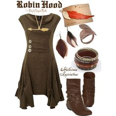 """Robin Hood"" by purplesugarrrush on Polyvore - Halloween Inspirations - Costume"