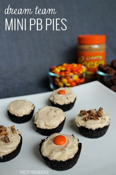 These mini peanut butter pies are unbelievable amazing. Definitely a new family favorite!