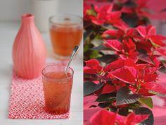 Madame Gateau: Un thé de noël et un poinsettia