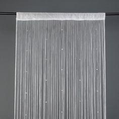 Sfeervol Kralengordijn - Vliegengordijn Deur Met Kralen - 200 x 100 CM - Deurgordijn Wit