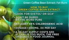 Green Coffee Bean Extract- Fat Burner Green Coffee Bean Extract, The Thing Is, Weight Loss Supplements, Want To Lose Weight, Green Beans, At Least, Pure Products, Snacks, Canning