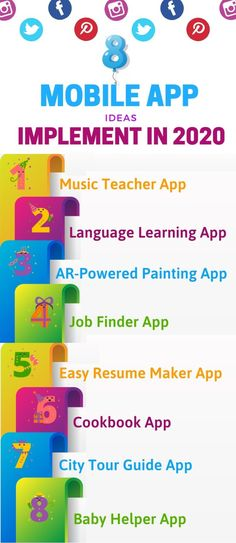 Mobile App Ideas You Can Start as A Standalone Business in 2020 Resume Maker, Paint App, News Apps, Mobile Application Development, Tour Guide, Language, Teacher, The Incredibles, Marketing