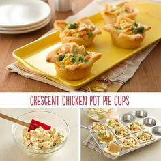 Chicken pot pie cups