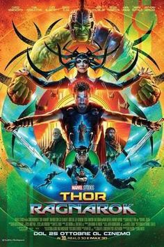 Thor: Ragnarok Directed by Taika Waititi - starring Chris Hemsworth, Tom Hiddleston et al, presnted by Box Office Films - film and movie box office details with weekly chart and lifetime grosses. Poster Marvel, Marvel Movie Posters, Thor Ragnarok Movie, Thor Ragnarok 2017, Luke Hemsworth, Spider Man Home, Watch Thor, Films Marvel, Immigrant Song