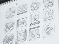 Kids app icon sketches