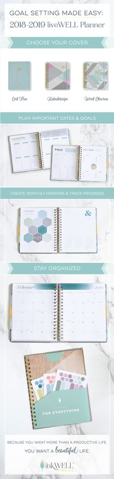 The best productivity planner for moms, students, teachers, and anyone else, who wants to focus on the important things in life - the inkWELL Press Academic Year liveWELL Planner. Life Planner, Weekly Planner, Happy Planner, Planner Ideas, Best Planners, Day Planners, Important Things In Life, Important Dates, Planner Organization