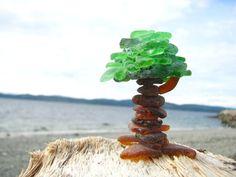 Beach Glass Tree by SalishSeaCreations on Etsy. $28.00 CAD, via Etsy.