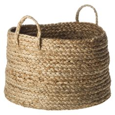 : We can't get our fill of chunky, textural baskets, and this jute basket ($20) fits the bill.