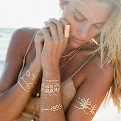 Lo más #cool para primavera-verano: Tatuajes metálicos temporales para lucir como joyas. #IdeasFlashEPC