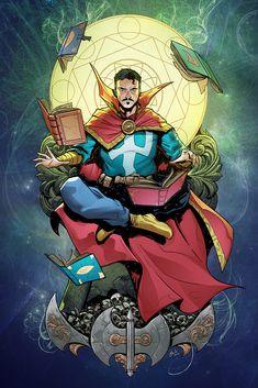 Fan art for Marvel's Doctor Strange. Marvel Comic Universe, Marvel Comics Art, Marvel Memes, All Marvel Heroes, Avengers, Benedict Cumberbatch, Comic Books Art, Comic Art, Dragonball Anime