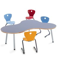 Puzzle classroom table by VS Educational Furniture