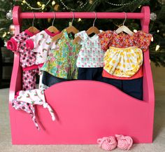 Doll clothing rack | Berry Barn Designs blog