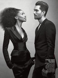 | Jasmine Tookes and Boyfriend Tobias Sorensen in Vogue