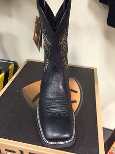 096ddb5dbbe Men s Ariat black deertan western boot.  149