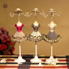 Zinc Alloy Star Tree Shape Earring Display Stand Holder Jewerly