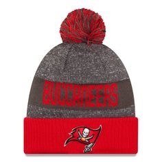 Tampa Bay Buccaneers New Era 2016 Sideline Official Sport Knit Hat - Heather Gray - $24.99