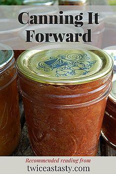 Canning It Forward My Favorite Food, Favorite Recipes, My Favorite Things, Kitchen Bookshelf, Blog, Inspiration, Biblical Inspiration, Kitchen Shelf Organizer, Blogging