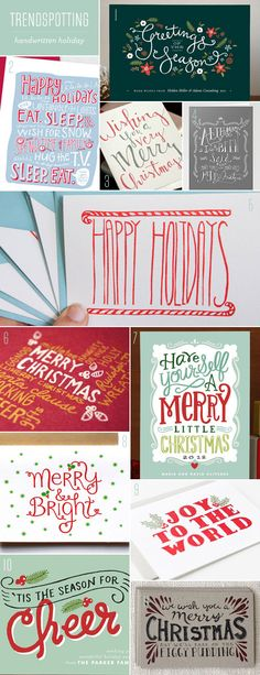 Trendspotting : Handwritten Holiday as seen on papercrave.com Gotta love the inspiration!