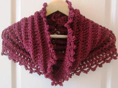 Ribbed Infinity Cowl Hood Poncho pattern by Paulette Woodall