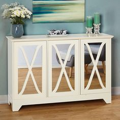 Store your extra dinnerware, flatware, and table linens in a buffet table or sideboard. Shop our great selection of stylish buffet tables and sideboards. Buffet Console, Buffet Server, Console Cabinet, Cabinet Doors, Sideboard Table, Console Furniture, Record Cabinet, Farmhouse Furniture, White Furniture