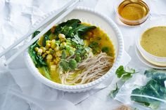 Impress your colleagues with this gourmet two-minute noodle soup - the ultimate work lunch. Not only is it easy to make but it's super healthy, perfect to heat up in a microwave.