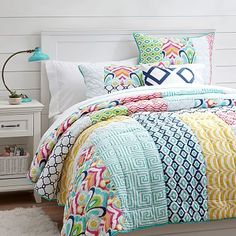 Palm Springs Patchwork Quilt + Sham // Love this!