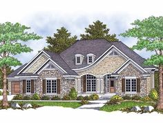 Eplans French Country House Plan - Elegant European Entrance - 2194 Square Feet and 2 Bedrooms from Eplans - House Plan Code HWEPL13541