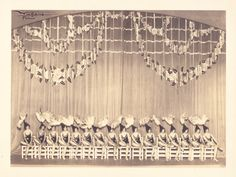 Vintage photograph of the Tiller Girl chorus line by Lucien Walery of Paris. Signed by the photographer in ink. Circa 1920's. Pic 2