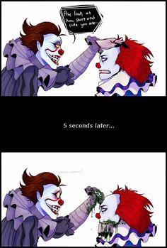 Funny pennywise<< I liked the old IT movie more :') Es Pennywise, Pennywise The Dancing Clown, Horror Icons, Horror Films, Arte Horror, Horror Art, Creepypasta, Le Clown, Funny Horror