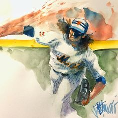 Mets deGrom All Star Game 2015 (art by Joe Petruccio)
