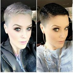 "7,914 Likes, 431 Comments - Short Hair Pixie Cut Boston (@nothingbutpixies) on Instagram: ""Which colour do you like better?.. Left or right on @katiezimbalisalon"" #hairdare"