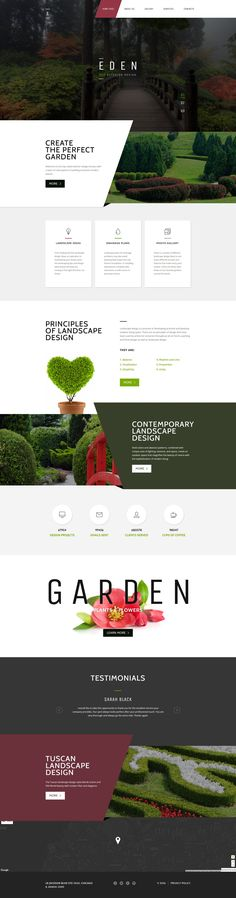 Download this Garden Design Responsive Website Template. Looking for an all-in-one theme to present your garden center on the web? Behold Garden Design HTML Theme, created to present a top-notch solution for your business. #html #html5 #gardendesign #landscapedesign https://www.templatemonster.com/website-templates/garden-design-responsive-website-template-58440.html