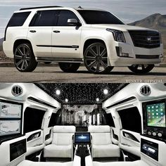 2018 Bunker conversion of Cadillac Escalade - Autos 2019 Cadillac Escalade, Luxury Van, Luxury Life, Lux Cars, Top Luxury Cars, Fancy Cars, Transporter, Expensive Cars, Bunker